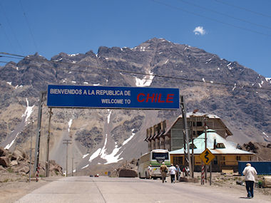 Chile/Argentina border, Andes at 9,600 feet