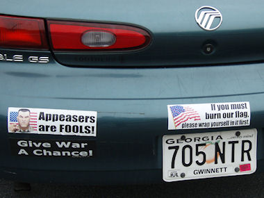 Tongue-in-cheek bumper stickers