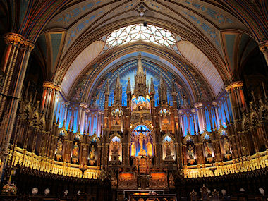 Notre Dame interior, Montreal