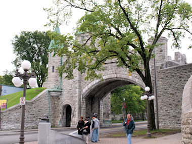 Quebec walled city gate