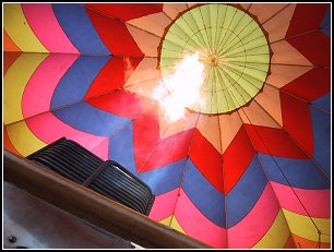 Burner inside the balloon