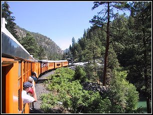 Durango to Silverton steam train