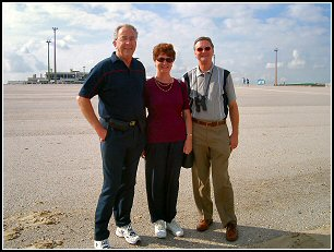 Alan, Pam and Brian at the Calais Hoverport