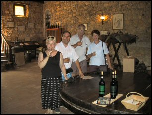 Wine tasting at Ch�teau Etang des Colombes