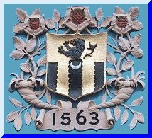 Crest over the school entrance