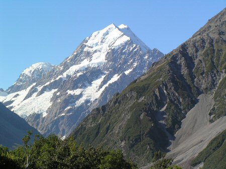 Mount Cook from the Hermitage Hotel