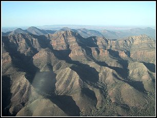 Flinders Ranges from the air