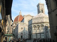 The Duomo and Baptistry in Florence