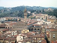 View of the Palazzo Vecchio from the Campanile Tower