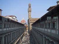 The Uffizi Museum from a gallery window