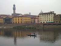 Gondola practice on the River Arno in Florence