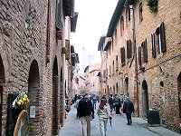The walled town of San Giminagno