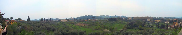 Tuscan panorama from the Boboli Gardens