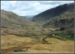 Wrynose pass from the Hardknott